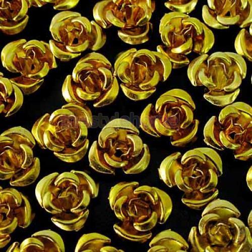 8mm-Aluminum-Rose-Metal-Flower-Beads-10-Colors-U-Pick