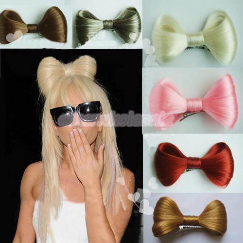 lady gaga hair bow wig. Lady Gaga Vogue Halloween Party Hair Bow Wig Clip White | eBay