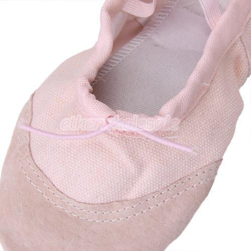 pink canvas ballet shoes toddler child us