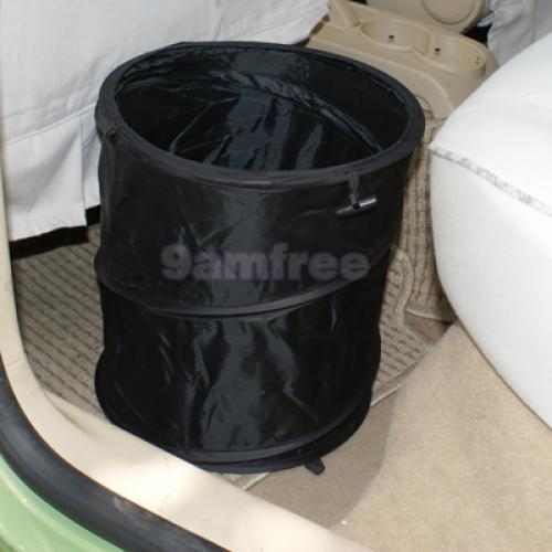 Black collapsible trash can rubbish bin garbage holder ebay - Collapsible garbage can ...