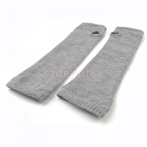 Fashion Show Games on Fashion Arm Warmer Long Fingerless Gloves Mitten Grey   Ebay